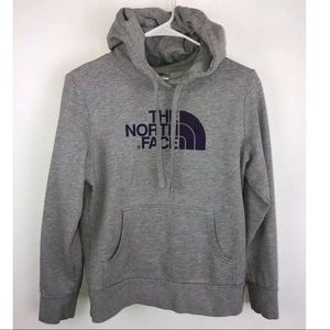 The North Face Women's Gray/Purple Pullover Hoodie